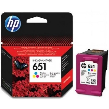 HP651Tri-colorOriginalInkAdvantageCartridge