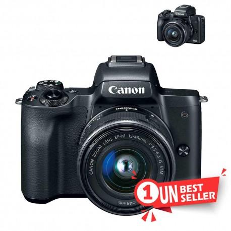CANON EOS M50 EF-M 15-45 S Black