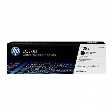 HP 128A Black Dual Pk LJ Toner for CM1415 CP1525