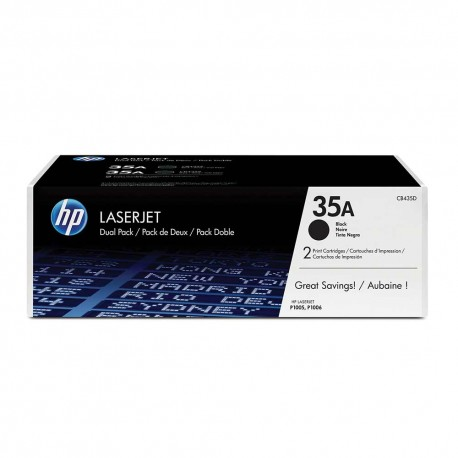 HP LaserJet CB435A Dual Pack Black Print Cartridge
