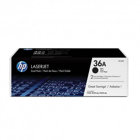 HP LaserJet CB436A Dual Pack Black Print Cartridge