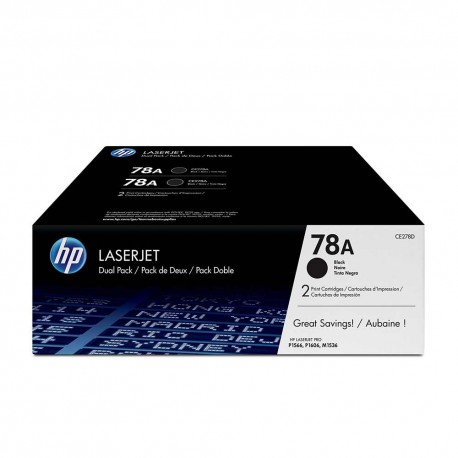 HP 78A Blk Dual Pack LJ Toner Cartridge