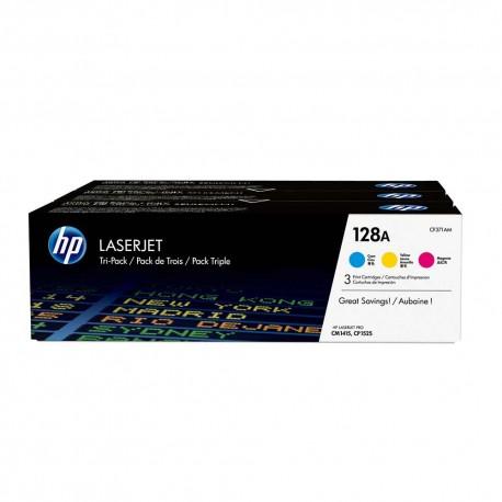 HP 128A 3-pack Cyan Magenta Yellow