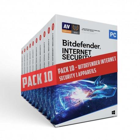Pack 10 - Bitdefender Internet Security 1 User 12